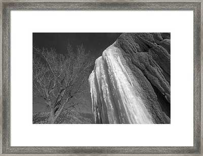 Framed Print featuring the photograph Ice Seasons by Al Swasey