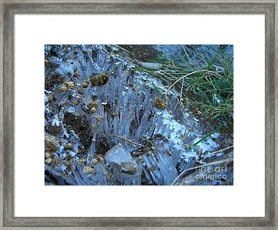 Ice Shards Framed Print by Jim Thomson