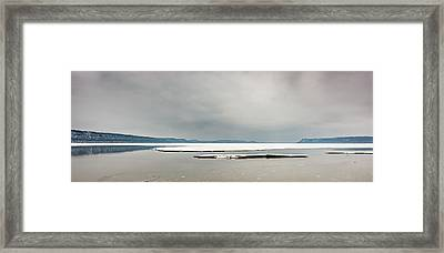 Framed Print featuring the photograph Ice Sheet by Dan Traun