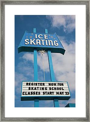 Framed Print featuring the photograph Ice Skating 2 by Matthew Bamberg