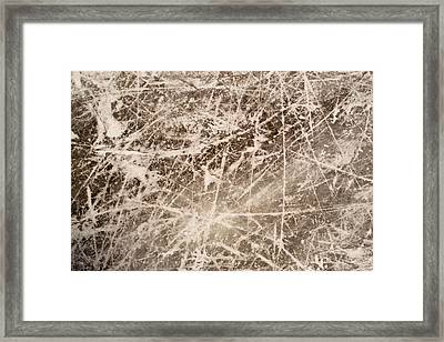 Framed Print featuring the photograph Ice Skating Marks by John Williams