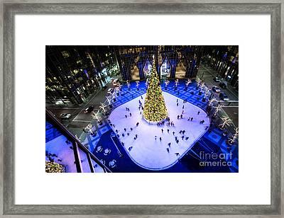Ice Skating Rink  Ppg Place Framed Print
