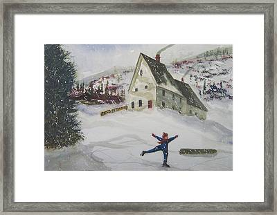 Ice Skating Framed Print