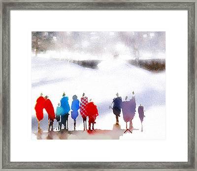 Ice Space Framed Print by Anil Nene