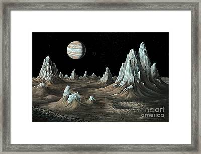 Ice Spires On Callisto, Artwork Framed Print