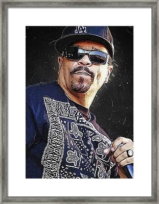 Ice T Framed Print