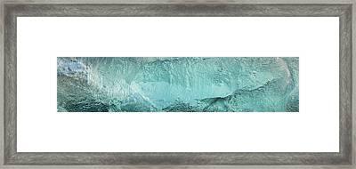 Ice Texture Panorama Framed Print