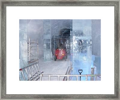 Ice Truck Framed Print by Maria Joy