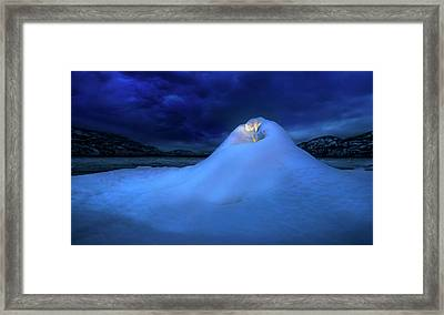 Framed Print featuring the photograph Ice Volcano by John Poon