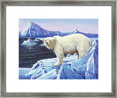 Ice Walker Framed Print by Kurt Jacobson