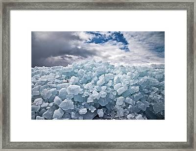 Ice Wall Framed Print by Brian Boudreau