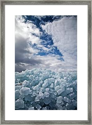 Ice Wall II Framed Print by Brian Boudreau
