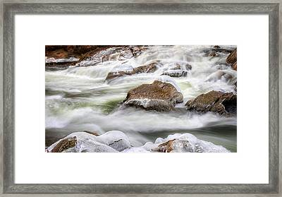 Ice Water Rapids Framed Print