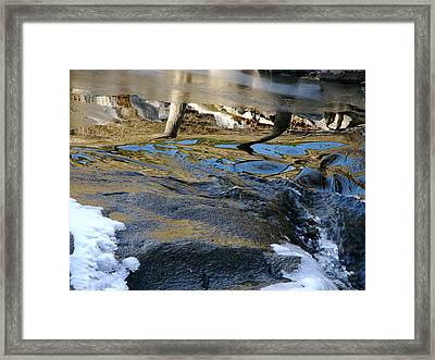 Ice Water Reflection Framed Print