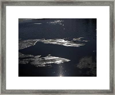 Ice Water Framed Print by Stan Wojtaszek