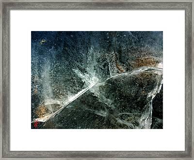 Ice Winter Denmark Framed Print by Colette V Hera Guggenheim