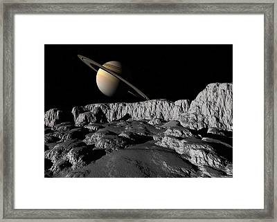 Framed Print featuring the digital art Ice World by David Robinson