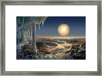 Ice World Framed Print by Don Dixon