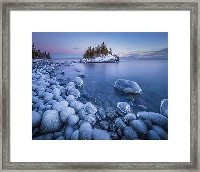 Ice World // North Shore, Lake Superior  Framed Print