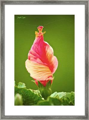 Icea Cream Flower - Pa Framed Print by Leonardo Digenio