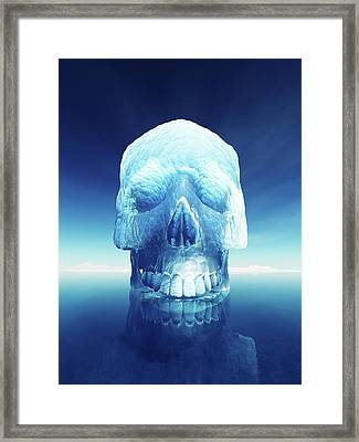 Iceberg Dangers Framed Print by Johan Swanepoel