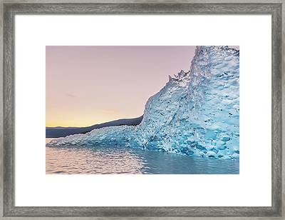 Iceberg From The Retreating Mendenhall Framed Print by Kevin Smith