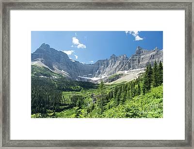 Iceberg Lake Trail - Glacier National Park Framed Print