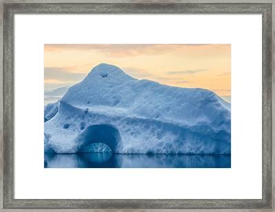 Iceberg On The Jokulsarlon Glacial Framed Print
