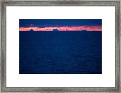 Icebergs On The Distant Horizon Framed Print