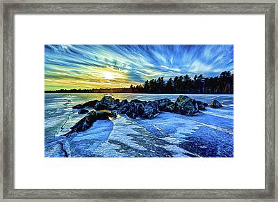 Icebound 5 Framed Print by ABeautifulSky Photography