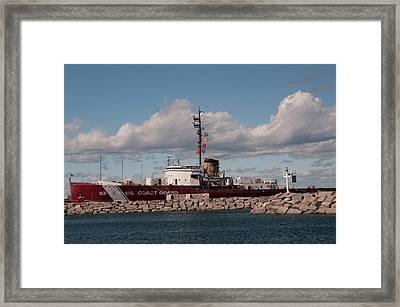 Icebreaker Mackinaw  Framed Print by Sharon Goldsboro