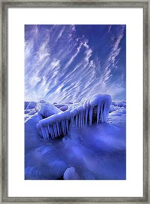 Framed Print featuring the photograph Iced Blue by Phil Koch