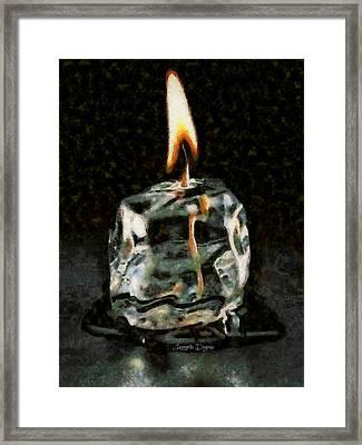 Iced Candle - Da Framed Print