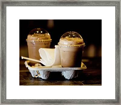 Iced Caramel Coffee Framed Print