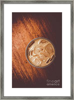 Iced Coffee Beverage On Copy Space Framed Print by Jorgo Photography - Wall Art Gallery