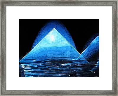 Iced Reflection Framed Print
