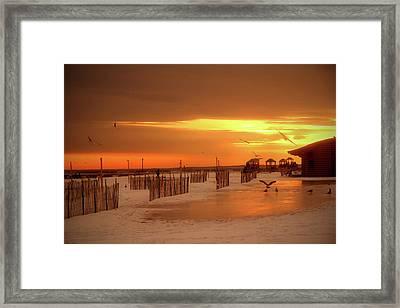 Iced Sunset Framed Print