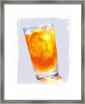 Iced Tea Framed Print by Jai Johnson