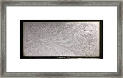 Iced Window Framed Print