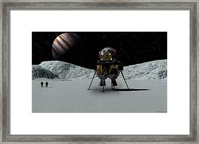 Icefield Landing Framed Print