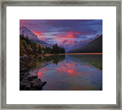 Icefields Parkway Autumn Morning Framed Print