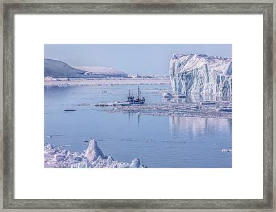 Icefjord In Greenland Framed Print by Joana Kruse