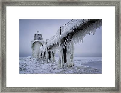 Icehouse Framed Print by Ian Riddler