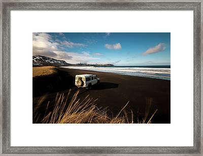 Iceland Black Sand Beach Framed Print
