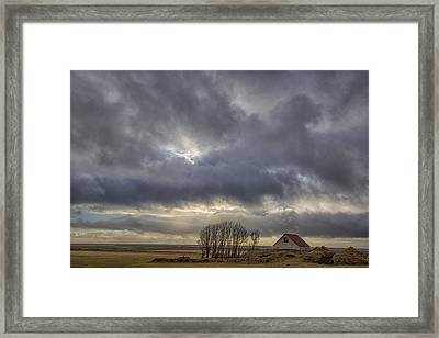 Iceland Buildings Framed Print by Kathy Adams Clark
