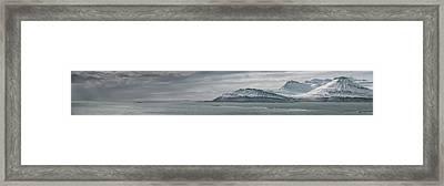 Iceland East Coast Panorama Framed Print