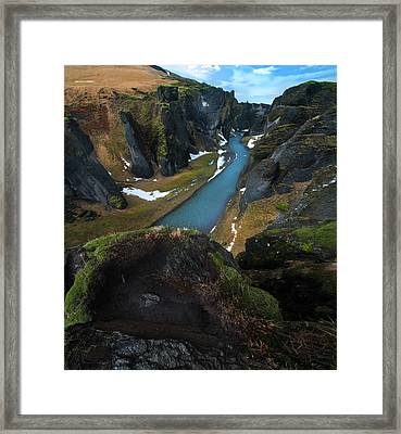 Iceland Gorge Framed Print by Larry Marshall