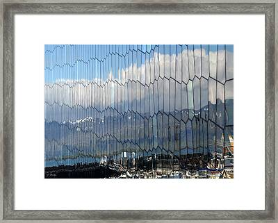 Framed Print featuring the photograph Iceland Harbor And Mountains by Joe Bonita