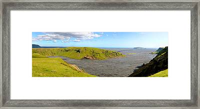 Iceland Landscape Near Vik Framed Print by Sergio Boccardo