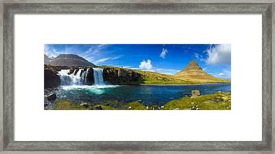 Iceland Panorama Shot Kirkjufell Framed Print